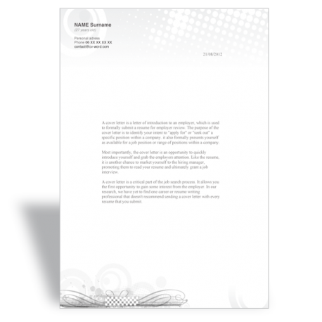 Word template cover letter Director Marketing