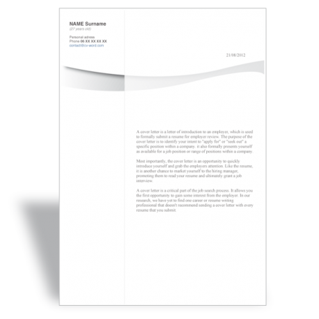 word template cover letter Marketing Internship