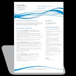 Word resume CV template Groundskeeper