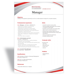 Word CV Resume template manager