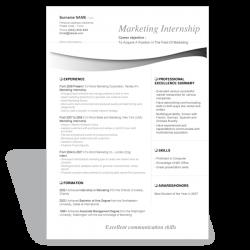 Word resume template Marketing Internship