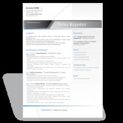 Word resume template News Reporter
